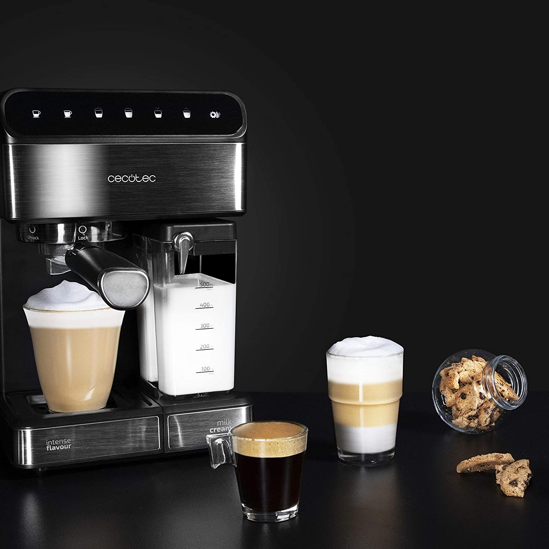 Cecotec Cafetera Semiautomatica Power Instant-ccino Touch Serie Nera. Presión 20 Bares, Capacidad de 1,4l, 6 Funciones, Calentador por Thermoblock, ...