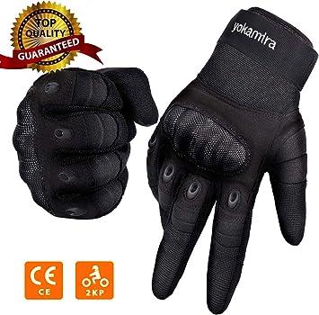 Guantes Moto Verano Hombre Mujer Guantes para Moto Antideslizante Guantes para Moto con Protecci/ón Dedo Completo