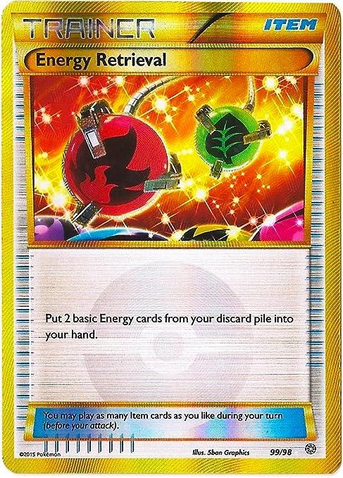 Energy Retrieval 99//98 XY Ancient Origins SECRET RARE Pokemon Card NEAR MINT