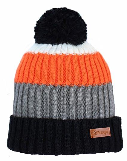 92afe7ea7a0 Amazon.com  Gihanga Quality Knit Beanie Hat with Pom Pom