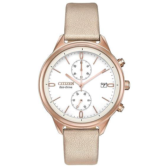 Reloj para mujer Citizen Eco-Drive Chandler Tan Vegan de cuero FB2003-05A: Amazon.es: Relojes