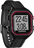 Garmin Forerunner 25 GPS Running Watch with Heart Rate Monitor - Large, Black/Red