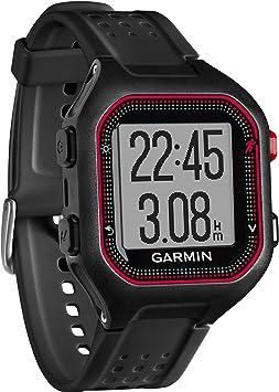 Garmin Forerunner 25 - Montre de Running Connectée - Taille L - Noir et Rouge: Amazon.fr: GPS & Auto