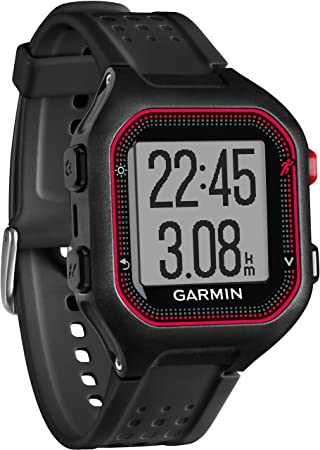 Garmin Forerunner 25 Reloj Deportivo, Negro/Rojo, L: Amazon.es ...