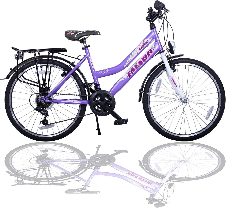 Talson 26 Pulgadas – Bicicleta para niña de 21 Marchas. con ...