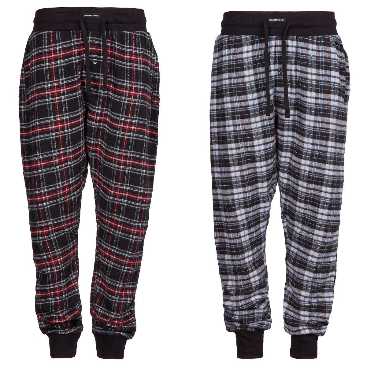 Style It Up Pack of 2 Check Design with Elasticated Waist and Cuffs Mens Pyjama//Lounge Pants