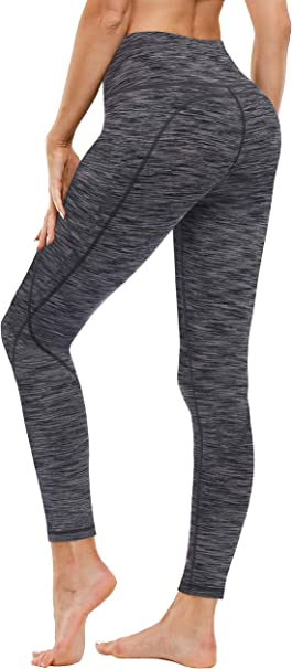 FUNANI Yoga Pants with Pockets, High Waist Yoga Pants for Women Non See Through Tummy Control Workout Running Leggings