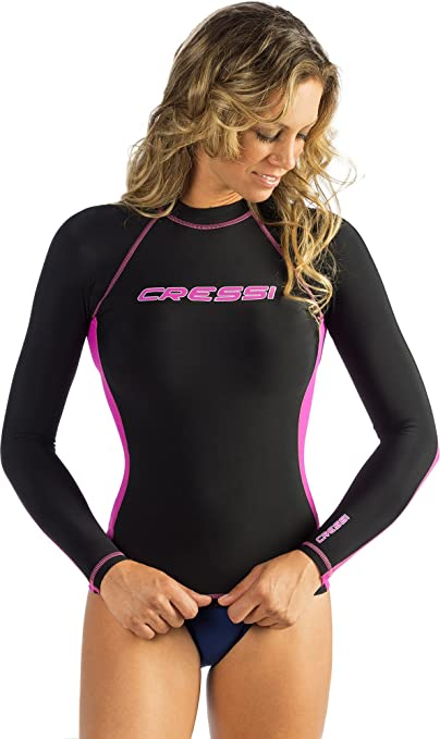 Cressi WOMEN'S LONG SLEEVE RASH GUARD, Adult Rash Guard for Swimming, Surfing, Diving - Cressi: Quality Since 1946