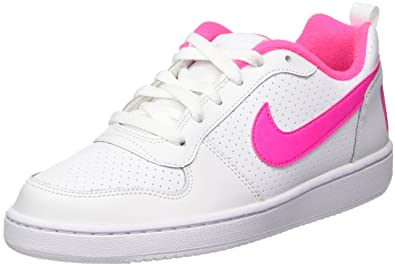 finest selection dba8b 4fc56 Nike Court Borough Low (GS), Baskets Fille, Blanc (White Pink