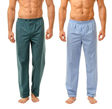 828b815617968b Haigman Men's Easy Care Long Pyjama Bottoms Twin Pack Sleepwear Nightwear:  Amazon.co.uk: Clothing