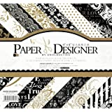 """AsianHobbyCrafts Paper Designer by EnoGreeting : 8"""" x8"""" : (DSM016) : 40 Patterned Papers : Theme – Bloom Flower"""