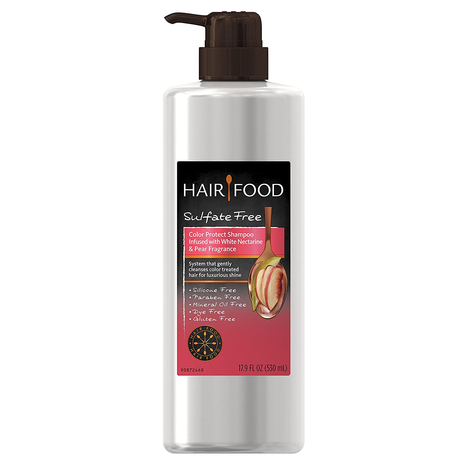 Hair Food Sulfate Free Color Protect Shampoo with White Nectarine & Pear Fragrance, 17.9 Fluid Ounce (Pack of 9)