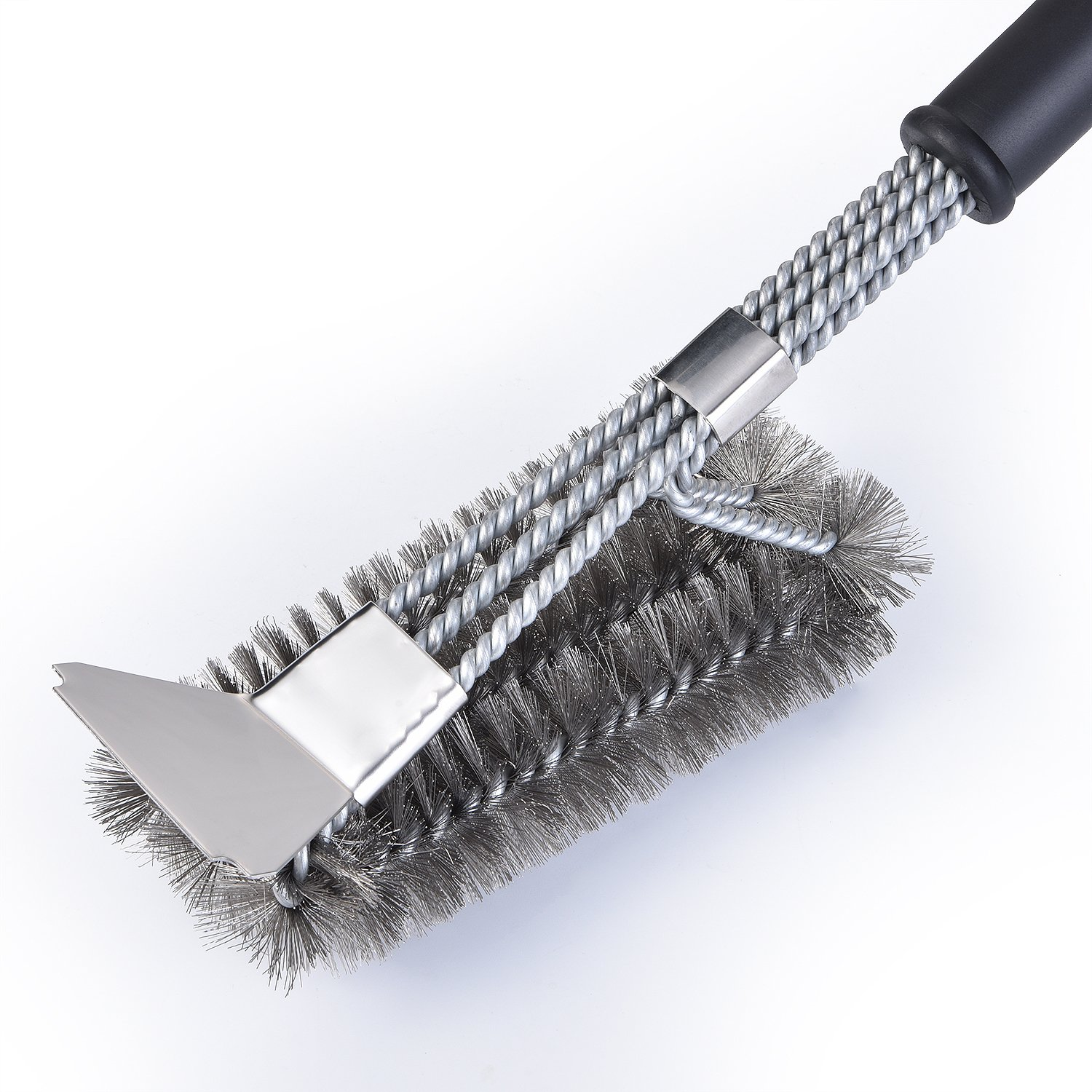 TBLUES Bristle Free Grill Brush, Grill Cleaner, BBQ Grill Brush and Scraper, Safe 18 Inches Stainless Steel Grill Cleaner Brush, BBQ Grill Accessories Tools and Gift