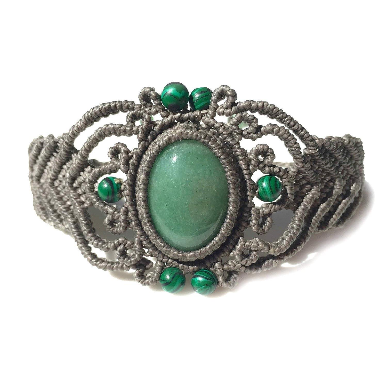 Comfort Gift Men/'s Genuine Malachite /& African Jade Bracelet Green Gemstone Simple Bead Bracelet New Beginnings Clarity Abundance Stone