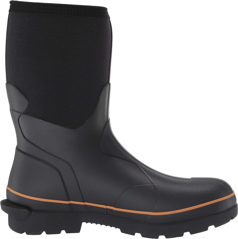 "Carhartt mens CMV1121 10"" Waterproof Rubber Pull-on Soft Toe Cmv1121 Black"