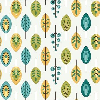 York Wallcoverings Kb8528 Bistro 750 Retro Leaves