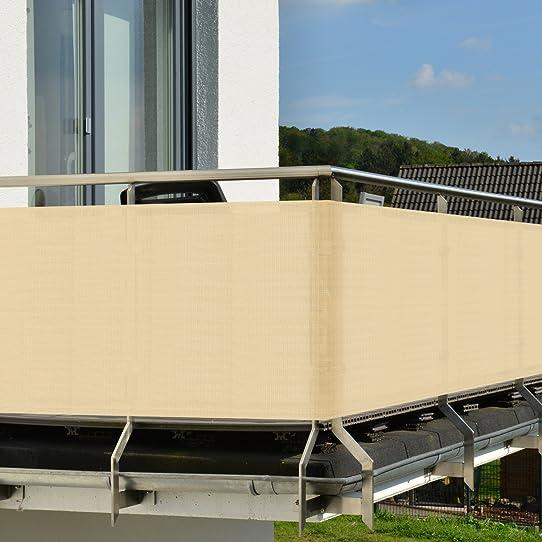 Brise-Vue Pour Balcon - Terrasse - Paravent - Avec Fixation