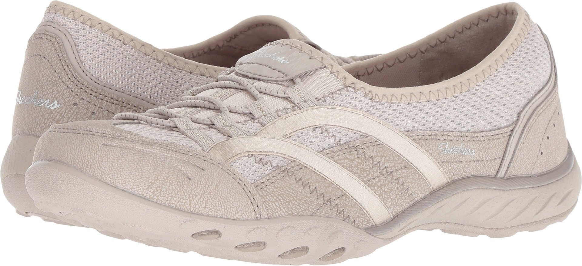 Skechers Relaxed Fit Breathe Easy Well Versed Womens Slip On Sneakers Natural 9.5 W