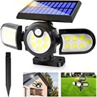 Solar Lights Outdoor,2 in1 Solar Powered In-Ground Spotlight with 140 COB LED Automatic Motion Sensor,360 °Rotable…