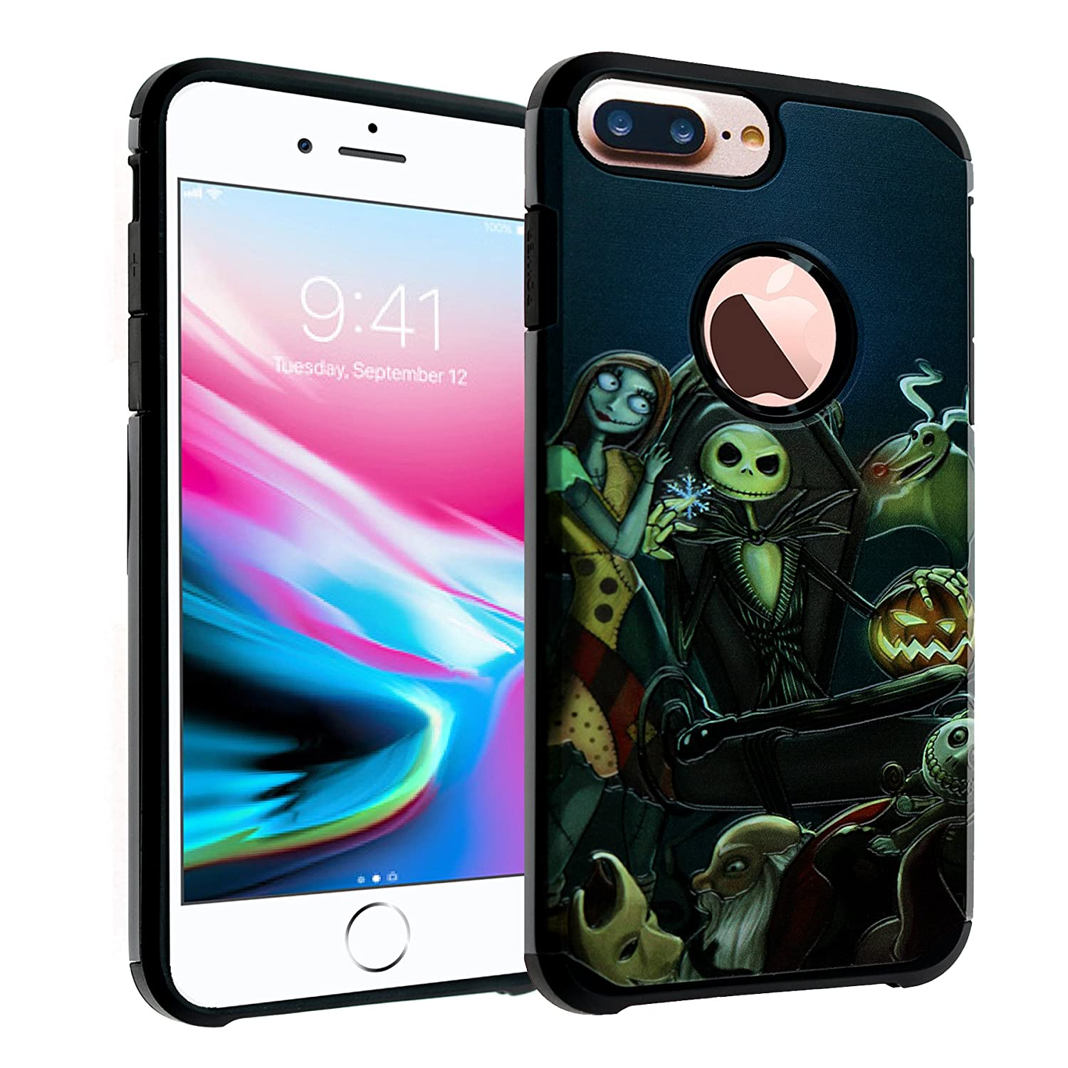 innovative design fa2f0 59f89 The Nightmare Before Christmas iPhone 7 Plus Case, IMAGITOUCH 2-Piece Style  Armor Case with Flexible Shock Absorption Case Cover for iphone7 Plus – ...