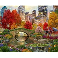 """Springbok Puzzles - Central Park Paradise - 500 Piece Jigsaw Puzzle - Large 23.5 by 18"""" - Made in USA - Unique Cut Interlocking Pieces"""