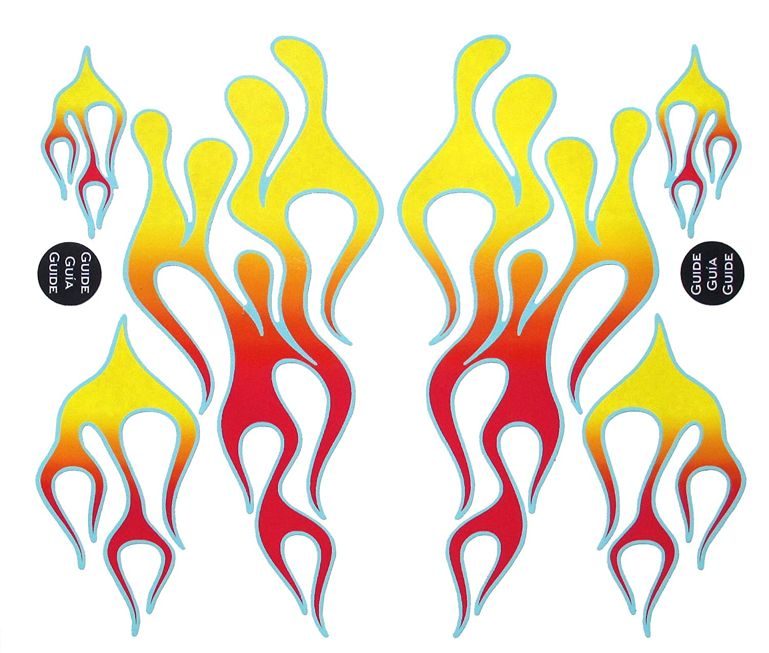 Classic Mix Red Flame Decal Kit for all KitchenAid stand mixers FlameKA.com Classic Mix Kit