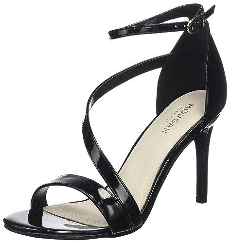 181-1tansa.a, Zapatos de Punta Descubierta Para Mujer, Negro (Noir), 37 EU Morgan
