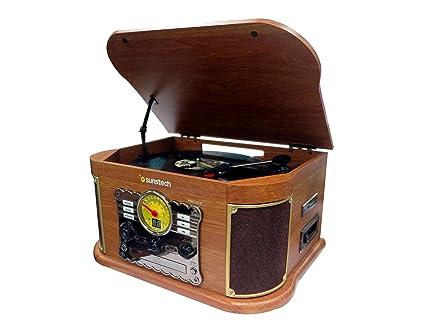 Sunstech PXRC52CDWD - Giradiscos de Madera, Color Madera: Sunstech ...
