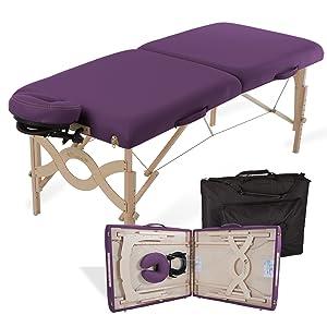 "EARTHLITE Portable Massage Table Package AVALON – Reiki Endplate, Premium Flex-Rest Face Cradle & Strata Cushion, Carry Case (30""x73"")"