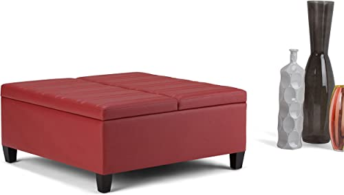 Simpli Home Ellis 36 inch Wide Square Coffee Table Lift Top Storage Ottoman