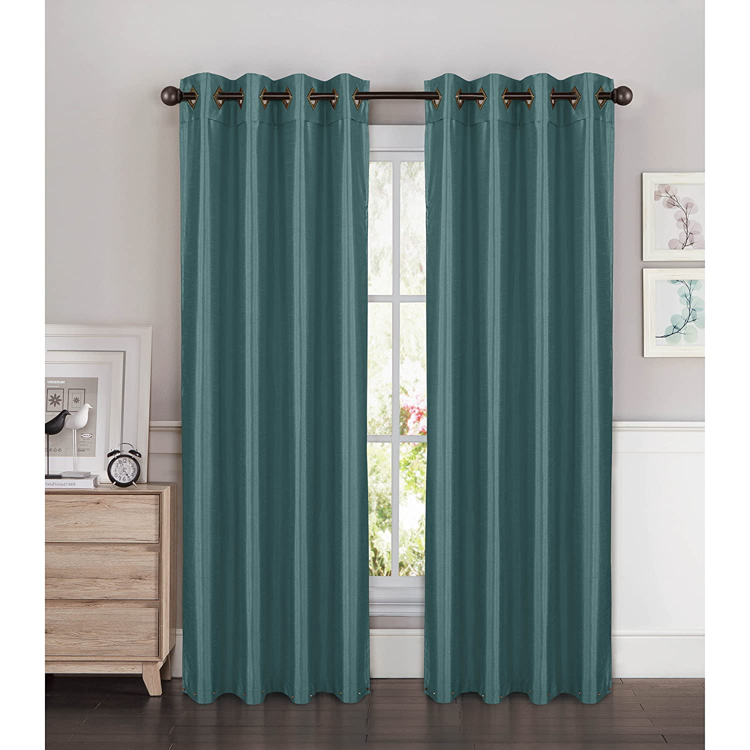 eyelet home heather close curtains curtain at teal product up paradise