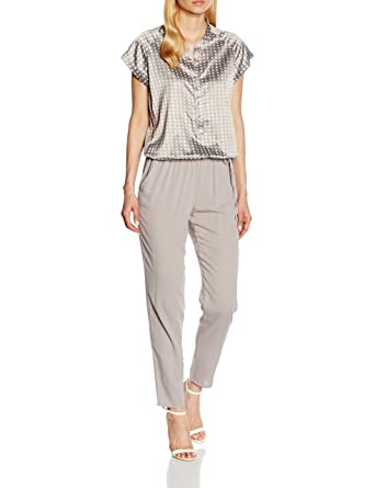217ecf73a3c1 TAIFUN by Gerry Weber Women s Straight Leg Jumpsuit - Grey - 46W 30L   Amazon.co.uk  Clothing