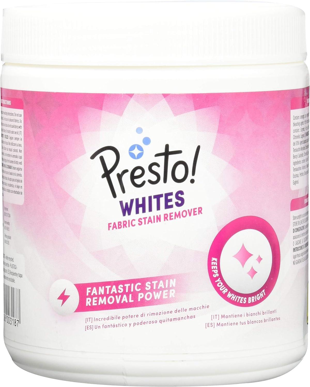 Marca Amazon - Presto! Quitamanchas en polvo para ropa blanca, 80 ...