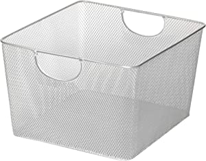 YBM HOME Household Wire Mesh Open Bin Shelf Storage Basket Organizer for Kitchen, Cabinet, Fruits, Vegetables, Pantry Items Toys 199se (1, 10 x 9 x 6)