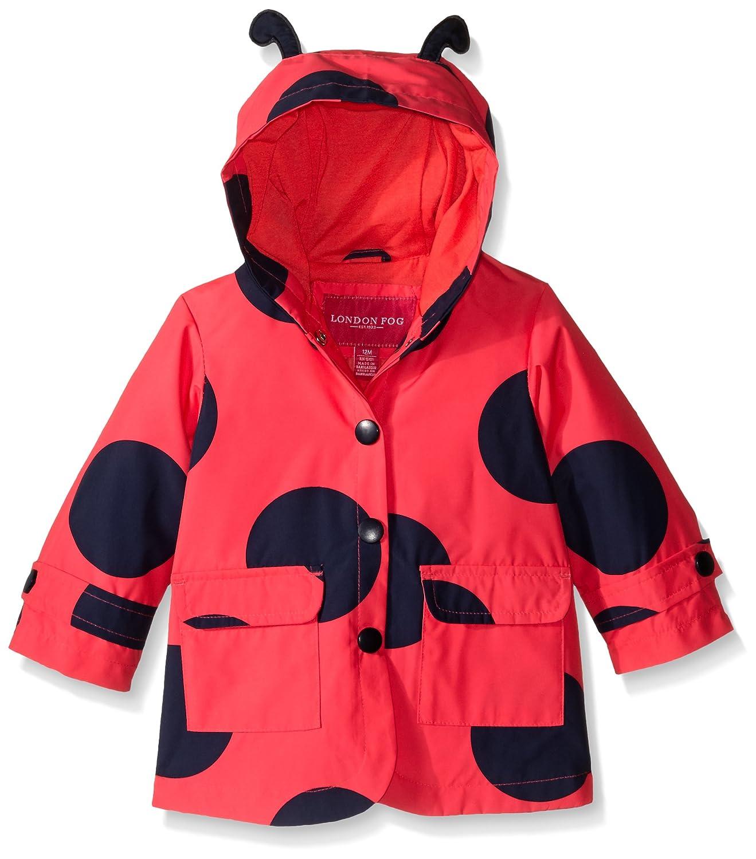 London Fog Baby Girls Enhanced Radiance Ladybug Rain Slicker L116539-AN