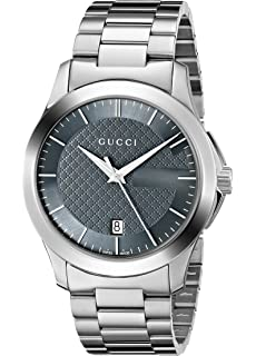 Gucci G-Timeless Stainless Steel Mens Watch(Model:YA126441)