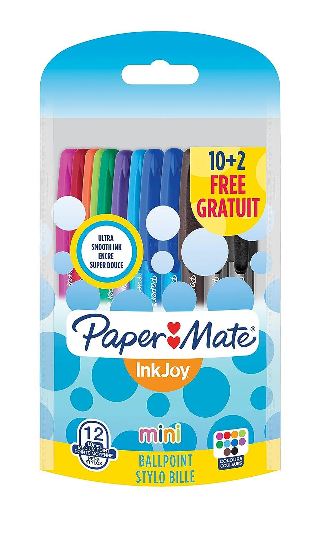 Paper Mate Inkjoy 100 Cap Stylo Bille Pointe Moyenne Noir Lot de 5