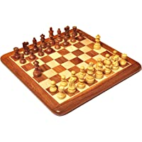 """Palm Royal Handicrafts Wooden Chess Board Set with Chessmen King Size 3"""" Made with Finest Indian Rosewood 32 Pieces and…"""