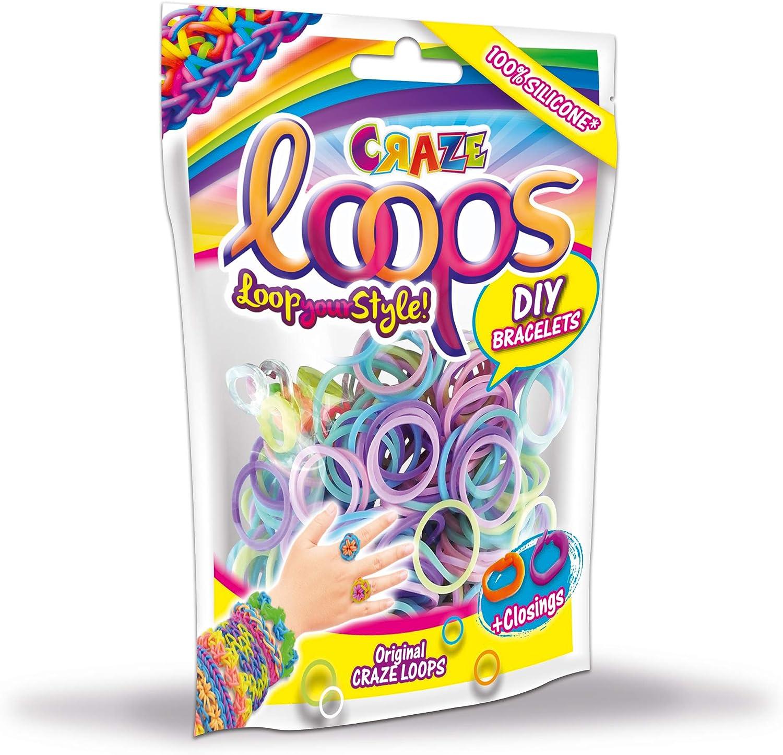 CRAZE Loops 20692-100 Anillos de Silicona para Pulsera dise/ño de Mega US-Trend