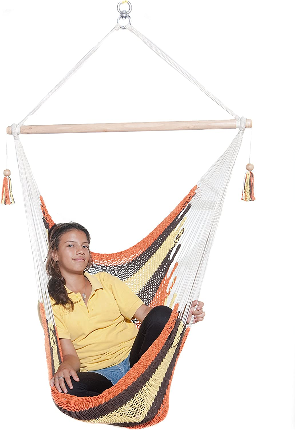 Amazon Com Toucan Hammocks Chair Hammock Swing Patio Garden Cradle Premium Quality Fairtrade Autumn Design Garden Outdoor