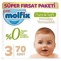 Molfix Pure&Soft Bebek Bezi, 3 Beden, 70 Adet