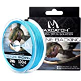 M MAXIMUMCATCH Maxcatch Braided Fly Line Backing for Fly Fishing 20/30lb(White, Yellow, Orange, Black&White, Black…