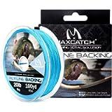 M MAXIMUMCATCH Maxcatch Braided Fly Line Backing for Fly Fishing 20/30lb(White, Yellow, Orange, Black&White, Black…
