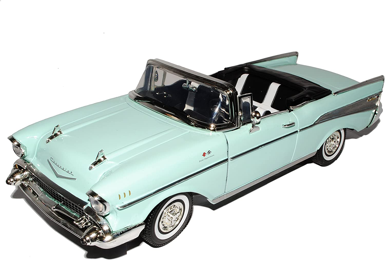 Motormax Chevrolet Chevy Bel Air 1957 Cabrio GrÜn Oldtimer 1 18 Modellauto Modell Auto Spielzeug