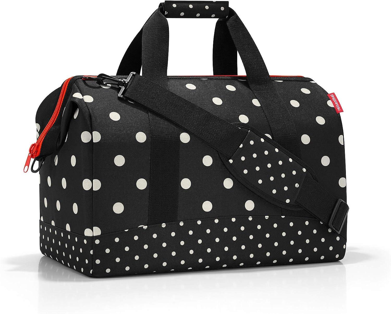 reisenthel Allrounder L Large Weekender Bag, Versatile 6-Pocket Padded Duffel, Mixed Dots