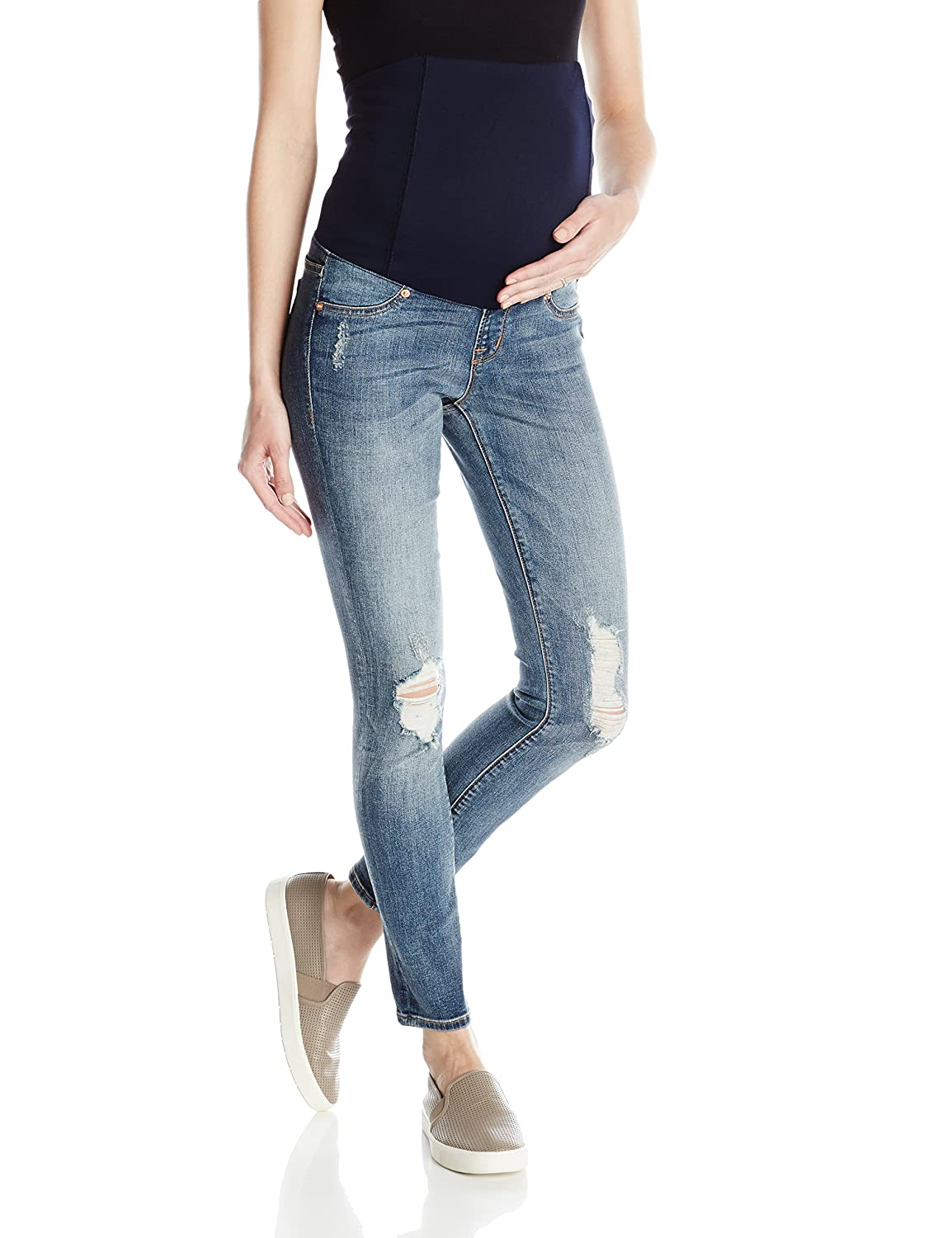 Ingrid & Isabel Womens Maternity Sasha Skinny Jean with Crossover Panel 1351MD