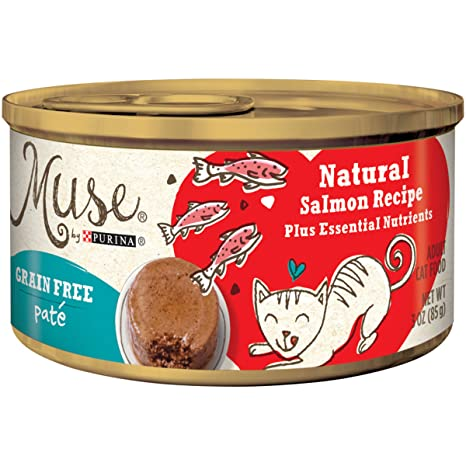 Muse by Purina Natural Salmon Pate Comida para gatos, 3Ounce Can by Muse by Purina