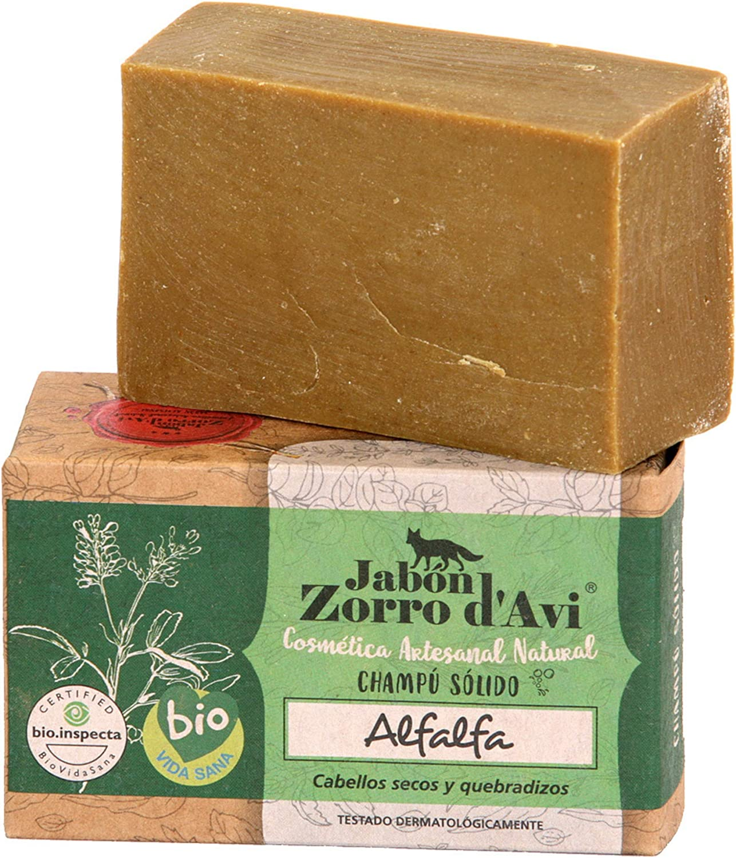 Jabón Zorro DAVI | Champú Sólido de Alfalfa | 120 gr | para Pelo