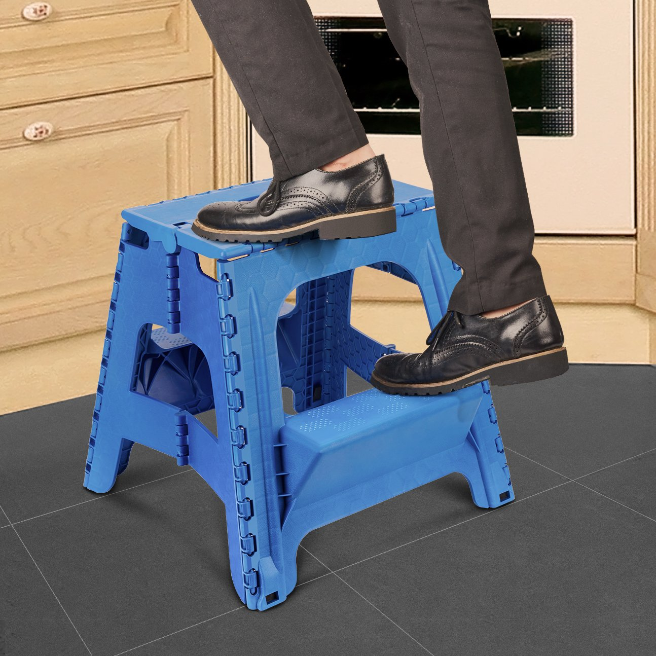 2 In 1 Step Ladder Durable Dual Purpose Folding Stool W