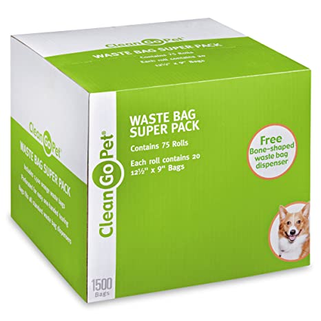 Amazon.com: Clean Go mascota perro bolsas de residuos, Super ...